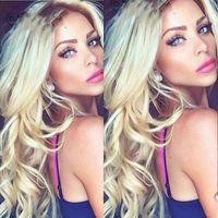 beautiful french women - silk bace middle part ombre blonde b peruvian human hair full lace wigs for beautiful women