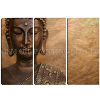 Plastic ECO Friendly  Top Artist Handmade High Quality Abstract Buddha Oil Painting on Canvas Handmade Modern Buddha Wall Painting for Living Room