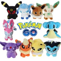 Wholesale Poke Plush Toys Umbreon Eevee Espeon Jolteon Vaporeon Flareon Glaceon Leafeon Animals Soft Stuffed Dolls toy D789