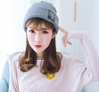 Wholesale 2016 new women and men pure color warm winter earmuffs hat knitting couples cap student sample DF86