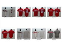 aaron day - Men Flex base Baseball Jerseys Maikel Franco Rose Mike Schmidt Aaron Nola Blank Philadelphia Phillies Stitched Independence Day