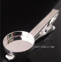 Wholesale high quality silver plated Tie clips DIY Tie Clip base mm Bezel Setting Length mm jewelry findings