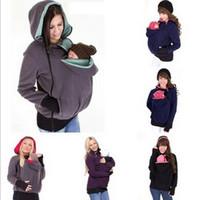 babies coat - Baby Carrier Kangaroo Coats Pullover Winter Hoodies Fleece Babywearing Kangaroo Maternity Outerwear Jacket Sweatshirts B0810