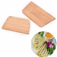 Wholesale 1 Bamboo Pancake Scraper Board Crepe Omelette Cooking Bamboo Board Kitchen Pasta Cuter Tool Utensils Pancake