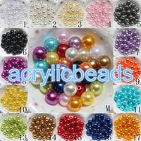 Wholesale 2017 Hot Selling ABS MM Imitation Acrylic Pearl Round Beads Plastic Fake Pearl Beads for Jewelry Making