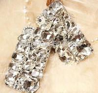 al por mayor diamantes de imitación caso iphone4-Hecho a mano 3D Bling brillo en forma de diamante piedras de diamantes de imitación de lujo cubierta de la caja del teléfono duro para iPhone4 / 4S / 5 / 5s / SE / 6 / 6S / 7/7 Plus