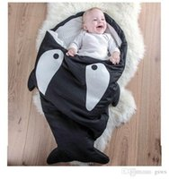 baby comfort blankets - Shark Baby sleeping bags Ins Winter baby Shark Blanket ChumBuddy Sleeping Bag Envelope cotton quilt kids Comfort