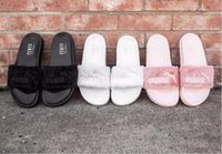 Wholesale Rihanna Fur Leadcat Fenty Slides Women Men Slippers House Winter Slipper Home Shoes Woman Warm Slippers Chinela womens sandals