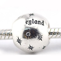 Wholesale Disneyland Resort Charm Sterling Silver Beads Fit Pandora Charms Bracelet Authentic DIY Fashion Jewelry