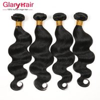 arrival human hair - Glary New Arrival Brazilian Virgin hair Body Wave Human Hair Extensions Peruvian Malaysian Indian Body Wave Double Hair Weft