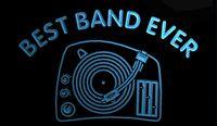 best turntables - LS1540 b Best Band Ever DJ Turntable Mixer Neon Light Sign jpg