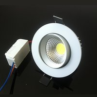 Luminaires dimmable Prix-10w COB LED Downlights Kit inclinable Encastré Down Lights Lampe Dimmable 90V-260V CREE Warm / Cool / Natural White + Drivers CRI85