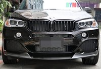 Wholesale Car surrounded Real FRP P Style Front Lip Spoiler F15 X5M Fit For BMW B173F