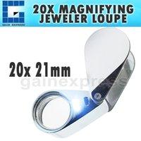 Wholesale GM XX Handheld x Magnifying Optical Glass LED Light Jeweler Loupe