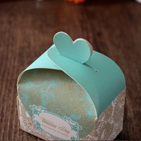 Wholesale Cheapest Wedding Candy Boxes Creative Paper Favor Box Purple Mint Rectangle Wedding Favor Boxes For Gifts In Stock