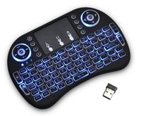 Wholesale Wireless Keyboard rii i8 backlite keyboards Fly Air Mouse Multi Media Remote Control Touchpad Handheld for MXQ MXII M8S T95 TV BOX Android