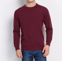 american country style - Fashion Hot Sale High quality Cashmere Full sleeve O neck Knit Pullover Pure Color Sweater Men Brand Some country