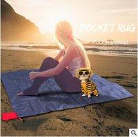 Compra Estera al aire libre-Alfombra de bolsillo de manta de bolsillo de picnic manta de arena ligera libre portátil de doblez de manta plegable simple alfombra con almohadillas de caso exterior CCA5701 50pcs