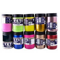 beer powder - Yeti oz Coolers cup powder Coated ss YETI Rambler Tumbler Travel Vehicle Beer Mug Bilayer Vacuum Insulated cups cooler Multi OTH242