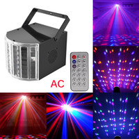 RGB Auto 110V Mini AC RGBYWV LED Stage Effect Light SD USB Slot Music Sound Active Auto Mode with Remote Control DJ Party Lighting