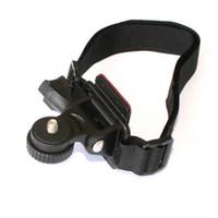 adjustable video camera mounts - Adjustable Head Vented Helmet Strap Mount for Mobius Action Sports Camera Video DV DVR Bike Bicycle Helmet Mount Holder