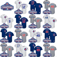 Wholesale 2016 World Series Champions Patch Chicago Cubs Kris Bryant Anthony Rizzo Javier Baez Ben Zobrist Jersey Baseball Jerseys