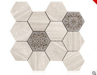 Wholesale 2017 hot sale Marble Mosaic The sitting room TV setting wall Creative hexagonal Mosaic tiles