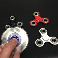 Wholesale Newest Hand Spinner Tri Fidget Ceramic Ball Desk Focus Toy EDC For Kids Adults Free Shopping