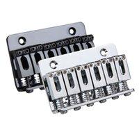 Wholesale 6 Ensilla Puente Carga Superior mm Puente de La Guitarra Eléctrica con unids tornillos Accesorios de Guitarra