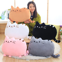 Wholesale Cartoon Cat Soft Plush Back Pillow Plush Back Cushion Throw Pillow Car Sofa Home Decor Toy Doll