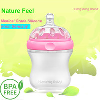 Wholesale Medical Grade Silicone Baby Feeding Bottle BPA Free Breast Feeling Patented Design ml