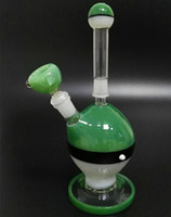 Wholesale NEW Bongs combination of glass hookah cost effective glass bongs green bongs and glass water pipes new design mm joint BK006 in stock