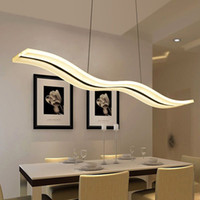 Wholesale LED Chandelier Lighting Modern Chandeliers Kitchen Light Fixtures Acrylic Lampshade Lustre Dimmable With Control AC85 V Lamp