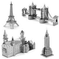 3d architectural styles - Rushed Styles D Metal Puzzle DIY Assembly Architectural Building Model Toy Creative Kids Toys Jigsaw Puzzles For Children