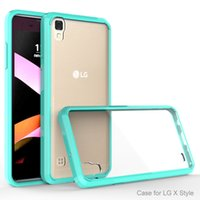 armor sets - Armor case For LG X style Tribute HD LS676 Mobile cover ultra thin invisible tpu pC acrylic crystal shell sets protective sleeve Cell Phone