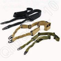 Wholesale 3 Colors Tactical One Single Point Adjustable Bungee Rifle Gun Sling System Strap Hunting Gun Accessories CCA5313