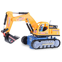 Wholesale HOT Sale Musical Excavator Flashing Wheel Builder Machine Car Kids Early Learning Toy Children Educational Birthday Gift