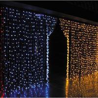 Wholesale Curtain lights christmas lights m m m m m m led lights Christmas ornament lamp Flash Colored Fairy wedding Decor