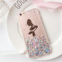 apple iphone angels - Mermaid Angel iphone Case Transparent Soft Back Cover Case For iphone S S Plus