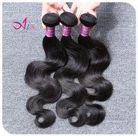 Compra Paquetes brasileños remy 1b-El pelo brasileño de la onda del cuerpo del pelo teje 3 paquetes Virginal Humano HairWeave Paquetes dobles de la trama Productos del color 1B Extensiones del pelo de Remy