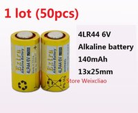 Dry Batteries alkaline dry battery - 50pcs LR44 A A76 A544 V4034PX PX28A L1325 V dry alkaline battery Volt Batteries