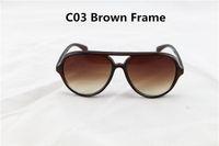 Acheter Le sport pc-10Pcs / Lot de haute qualité unisexe Sports Lunettes de soleil femmes hommes UV400 marque lunettes de soleil pilotes Eye Wear Femmes conduisant Oculos 4125 avec Box Case