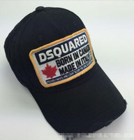 Wholesale Men s D2 Distressed And Stained Wild Side Caps Born In Canada Adjustable Cotton Embroidery Leisure Baseball Hats