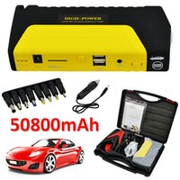Wholesale Multi Funtion A Peak mha Emergency Car Jump Starter V Portable Power Bank Dual USB Auto Battery Booster Charger Phone Laptop