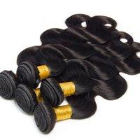 Wholesale Vinsteen Unprocessed Virgin Hair Body Wave Bulks g Human Hair Weaves inch Wefts Human Hair Extensions Natural Color