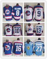 Wholesale NHL Ice Hockey Winnipeg Jets Jerseys CCM Vintage Throwback Teemu Selanne Bobby Hull Teemu Selanne Dale Hawerchuk Laurie Boschman Jersey