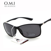 Wholesale Top Quality Polarized Sunglasses Men Outdoor Sport for Fishing Driving Rectangle Hot Rays Black Frame Sun Glasses OM15