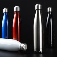 Wholesale Swell Water Bottle Bottle Vacuum Flask Cup Sports Stainless Steel Cola Bowling Shape Termos Travel Mugs Vacuum Insulation Cups ML DA1