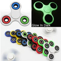 Wholesale Tri Spinner Handspinner Fidget Toy Plastic EDC Hand Spinner Top For Autism and ADHD Children Kids With Metal Balls SP03