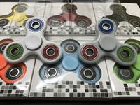 Wholesale 120pcs EDC Fidget Tri Hand Spinner Plastic Handspinner Steel Bearing Finger Gyro Fidget Toys For Autism ADHD Antistress Colors